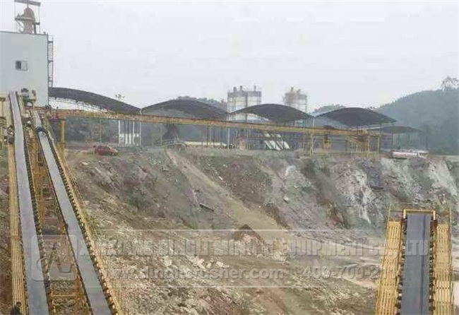 800-1000TPH Limestone Crushing Line in Sichuan