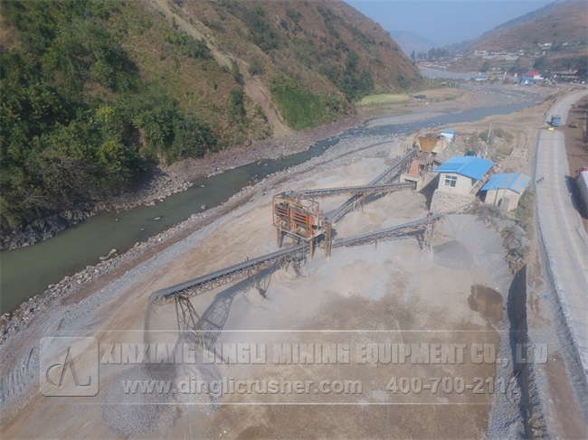 500TPH Gravel Production Line in Liangshan Sichuan