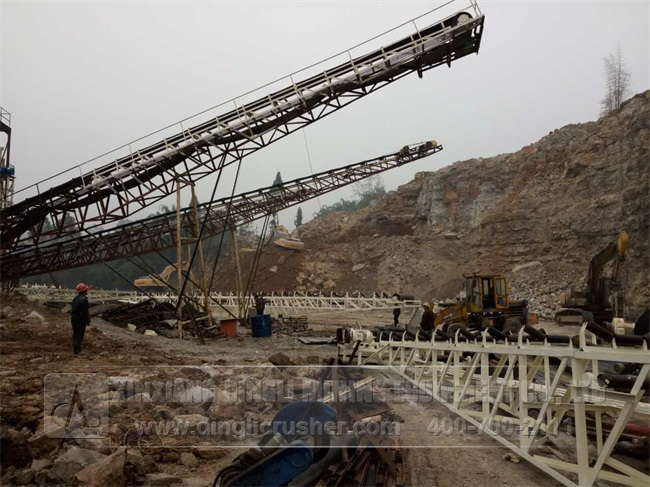 600TPH Gravel Production Line in Meishan City Sichu