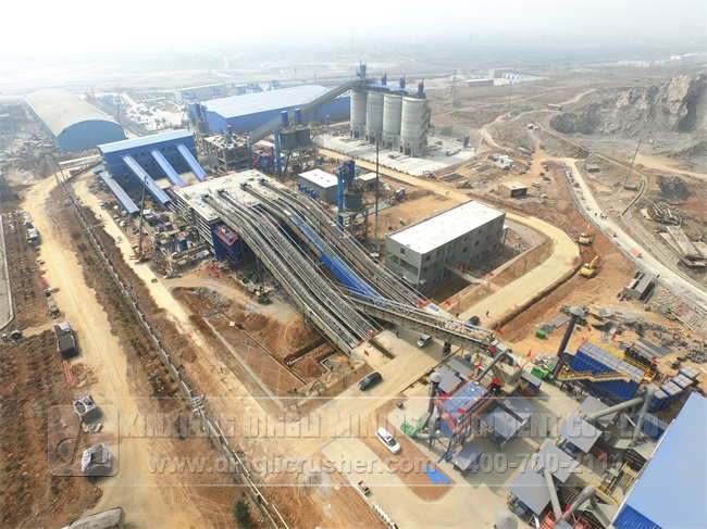 2500TPH Aggregates Production Line of Henan Mengdia
