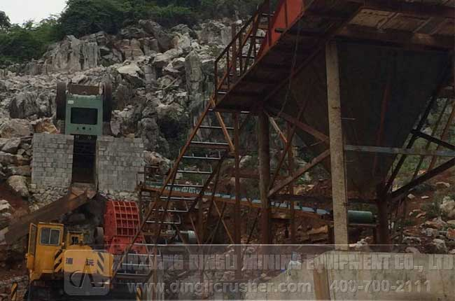 160TPH Stone Plant in Guangxi