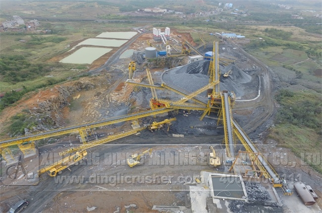 500TPH Stone Crushing Line for Sand Production